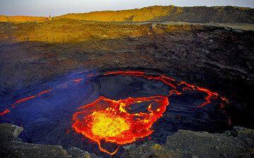 The lava lake of Erta Ale volcano, Danakil desert, Ethiopia (Photo: Reinhard Radke)