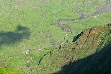An erosion gully in the lower flanks of Lengai volcano (Photo: Tom Pfeiffer)