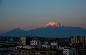 Mt Ararat volcano is not only one of the most iconic and largest potentially still active volcanoes in the world, but certainly one that has more connections to history, religion, myths, culture and politics in the Caucasus-Middle East region than any other mountain as well. One of the many beliefs around it refers to the Bible's tale of Noah. According to it, its summit was the first to emerge as new land when the Deluge receded and Noah could land again here, starting to populate the new world... Even though its location became part of the Turkish state in 1920 following the Turkish-Armenian war and intervention of Russia, it remains an important national symbol of the Armenian people, whose original population area was much larger than today's country, and had Ararat quite in its center. Today, from many points in western Armenia, it remains a mighty background of the scenery. The pictures were taken during our latest small group tour to Armenia's geological and cultural highlights. (Photo: Tom Pfeiffer)
