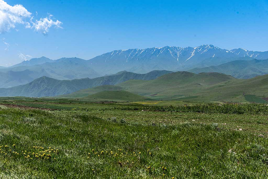 Volcanic cones in the foreground and Transcaucasus in the background. (Photo: Tom Pfeiffer)