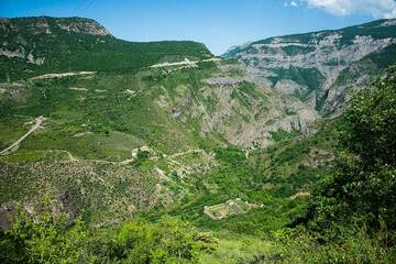 The majestic Tatev gorge looking towards the east. (Photo: Tom Pfeiffer)