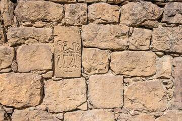 Old religious stone carvings in the walls of the hermitage. (Photo: Tom Pfeiffer)