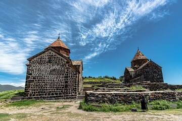 Sevanavank monastery, one of Armenia's most well-known. It was built in the 9th century monastery on a steep hill forming a narrow peninsula into Lake Sevan. The peninsula is the result of a geologically very young (possibly less than 10,000 years old) lava flow from the Gegham plateau. (Photo: Tom Pfeiffer)