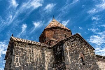 Cirrus clouds in the sky above Sevanavank monastery (Photo: Tom Pfeiffer)