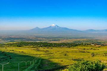 Ararat seen from the lower slopes of Aragats volcano in Armenia (Photo: Tom Pfeiffer)