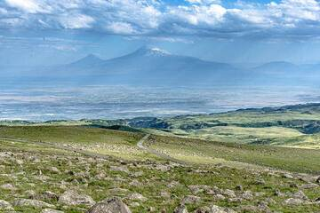 Mt Ararat on a clear afternoon from Ararats volcano (Photo: Tom Pfeiffer)