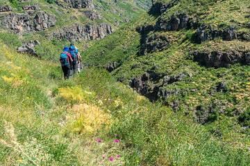 Hiking trail into the Kasakh gorge. (Photo: Tom Pfeiffer)