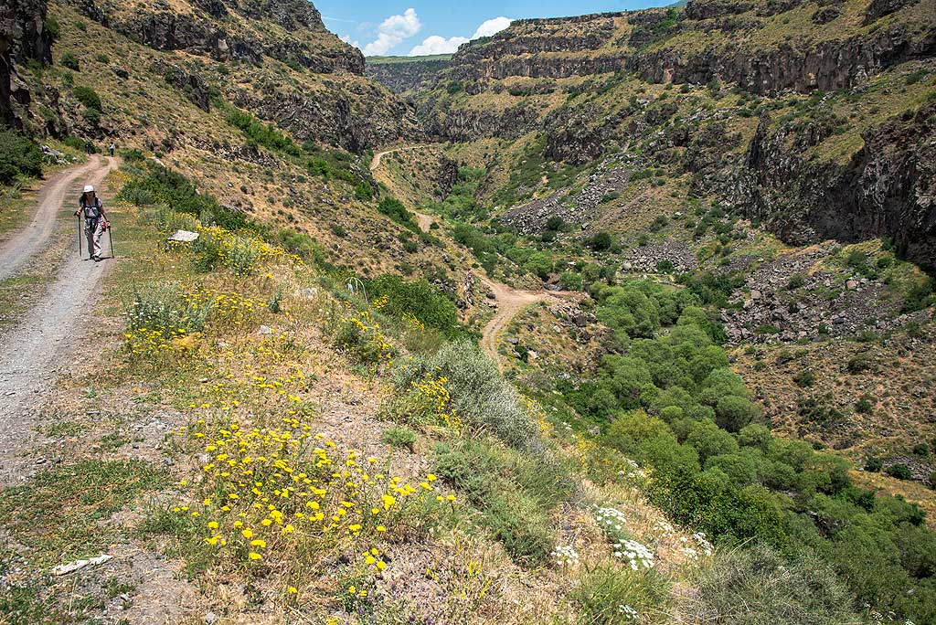 The dirt road leading out of the gorge towards Saghmosavank Monastery. (Photo: Tom Pfeiffer)