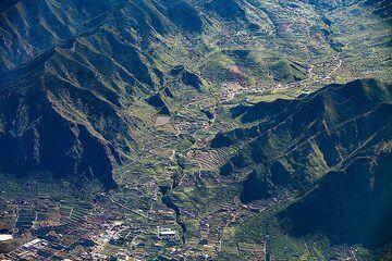 Aerial photo of the valley at El Palmar/Tenerife island. (Photo: Tobias Schorr)