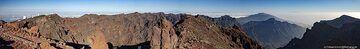 Panoramic view of the caldera Tamburiente on La Palma island. (Photo: Tobias Schorr)