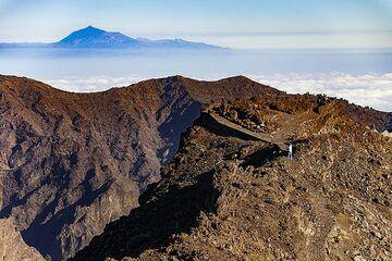 The view point of Roques de Muchachos on top of the caldera Taburiente on La Palma island. (Photo: Tobias Schorr)