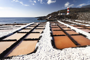 The salt production at the lighthouse of Funcalliente on La Palma island. (Photo: Tobias Schorr)