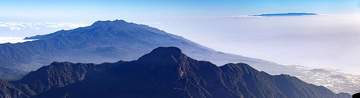 Panoramic view of the Cumbre Vieja volcanoes on La Palma island. (Photo: Tobias Schorr)