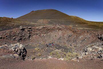 View of the St. Antonio volcano and the lava flows of Teneguia volcano (1971). (Photo: Tobias Schorr)
