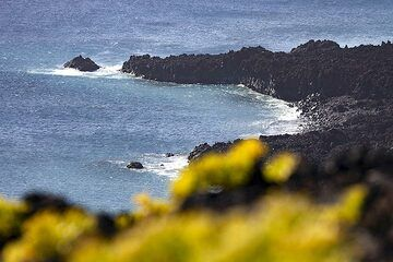The Playa nueve beach near the Teneguia volcano on La Palma island. (Photo: Tobias Schorr)