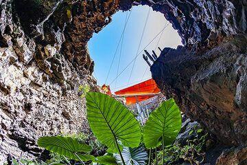 The lava cave jameos del aqua on Lanzarote island. (Photo: Tobias Schorr)