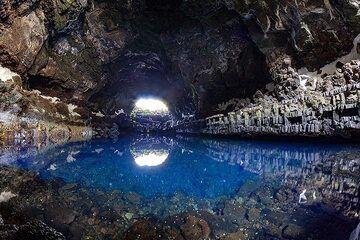 "The lake inside the lava cave of La Corona volcano, called ""jameos del aqua"" and designed by the famous architect Cesar Manrique. Lanzarote February 2019. (Photo: Tobias Schorr)"