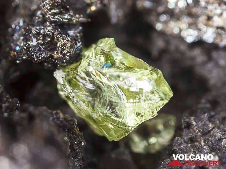 Olivine crystal (Photo: Tobias Schorr)