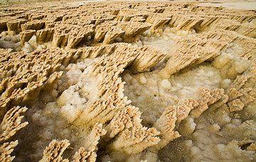 Yellow salt crusts at Dallol, Ethiopia (Photo: Tom Pfeiffer)