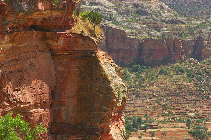Red and yellow sandstones dominate the beautiful landscape of the Tigray region. (Photo: Tom Pfeiffer)
