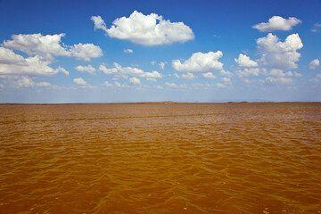 Muddy water near Dallol (Photo: Tom Pfeiffer)