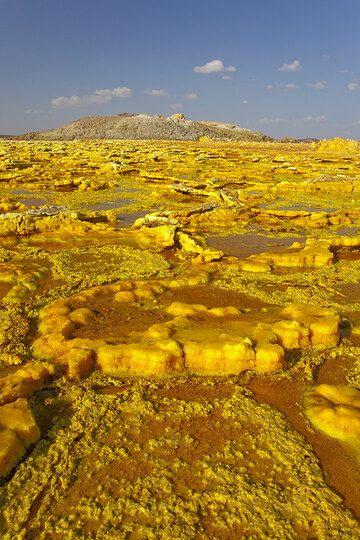 Yellow salt flat at Dallol (Photo: Tom Pfeiffer)