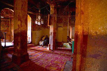 Pillars inside Abraha Atsbeha church (Photo: Tom Pfeiffer)
