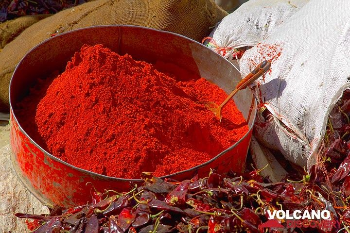 Red chili powder - perhaps the most important spice in Ethiopian food (Photo: Tom Pfeiffer)