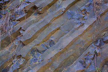 Columnar basalt in the Ethiopian Traps balsalt plateau (Photo: Tom Pfeiffer)