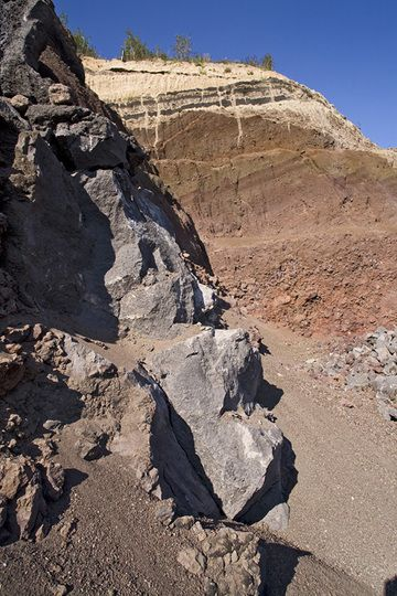 Volcanic vent in the Eppelsberg volcano (Photo: Tobias Schorr)