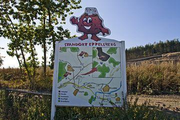 Touristenkarte des Eppelsbergvulkans (Photo: Tobias Schorr)