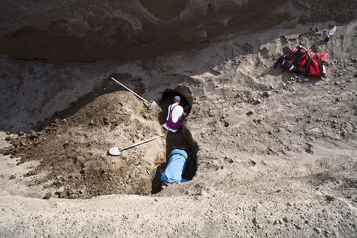 Mineraliensammler in einem Steinbruch beim Laacher See Vulkan (Photo: Tobias Schorr)