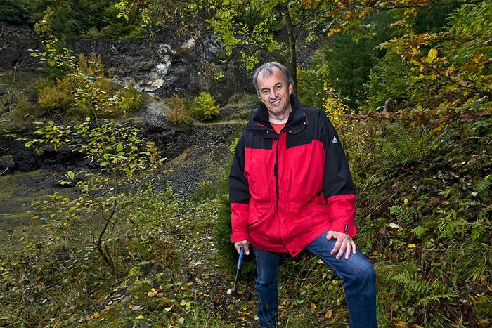 Günter im Steinbruch des Arensberg (Photo: Tobias Schorr)