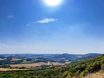 Blick auf die Landschaft mit permischen Sedimenten um Freisen und St. Wendel. (Photo: Tobias Schorr)