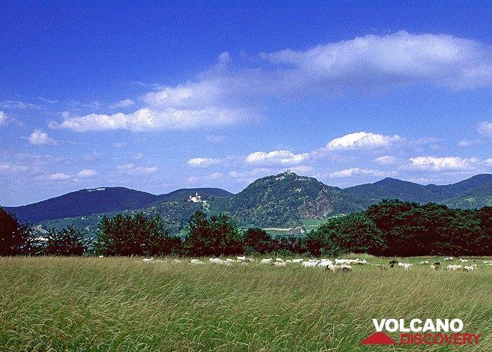 Der berühmte Drachenfels des Siebengebirges mit seinem Lavadom aus Trachit. (Photo: Tobias Schorr)