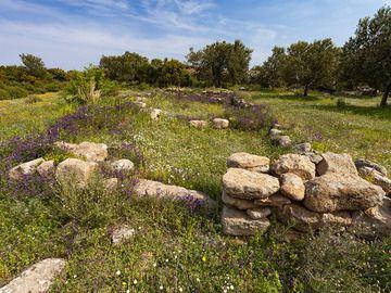 "A prehistoric temple (""Megaron"") from the Mycenaean times around 1200-1400 B.C. near Methana town. (Photo: Tobias Schorr)"