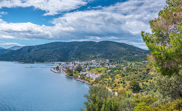View towards Methana town (Photo: Tom Pfeiffer)