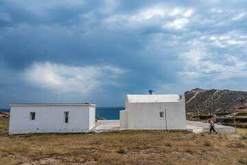 A land house above Agia Kiriaki bay (Photo: Tom Pfeiffer)