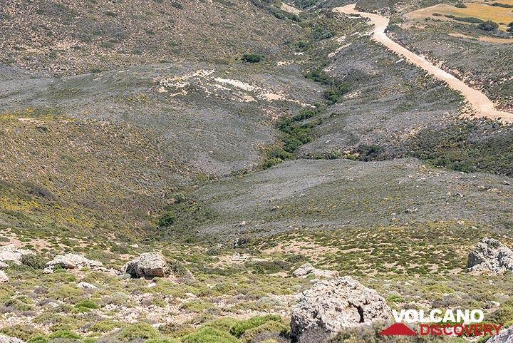 Trail leading up to Profitis Ilias (Photo: Tom Pfeiffer)