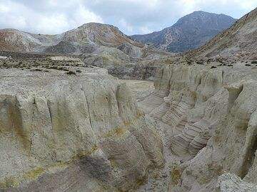Rainfall carved out erosion canyons through the weathered volcanic deposits  (Photo: Ingrid Smet)