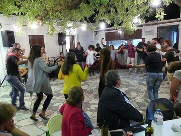 Panigiri at the monastery of Agios Stavros - a religious festival with food and dance... (Photo: Ingrid Smet)