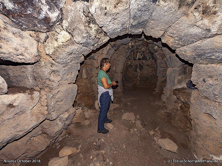 Inside the old monastery of Nymphios. (Photo: Tobias Schorr)