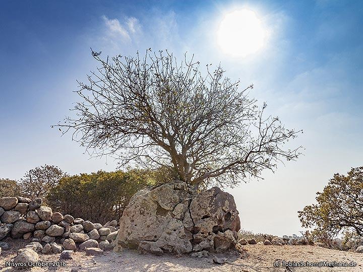 A volcanic rock at Nikia. (Photo: Tobias Schorr)