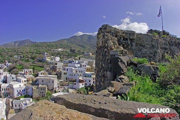 Ruins of the castle above Mandraki village, Nisyros (c)
