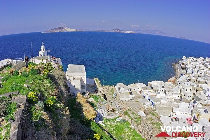 Panoramic view from the castle of Mandraki. Yali and Kos islands in the background. (c)
