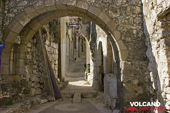 Arches over a street in Emborion village. (c)