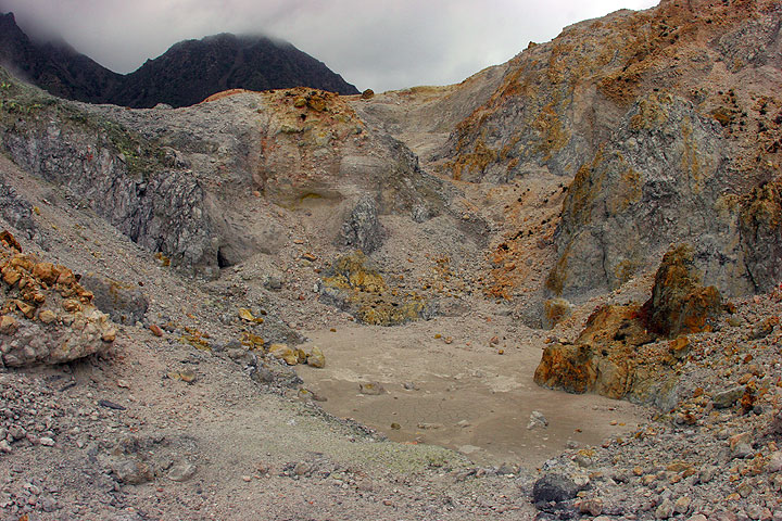 One of the small explosion craters at the Polyvotis complex. (c)