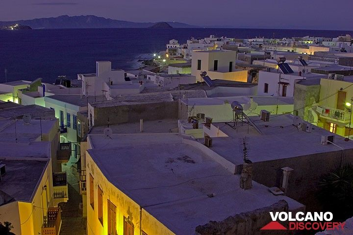 Mandraki and Kos island in the background at night. (c)