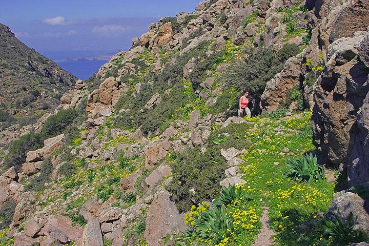 On the way up to Profitis Ilias mountain. (c)