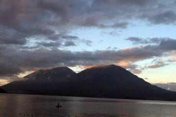 Toliman and Atitlan volcanoes at Lake Atitlan (Photo: Yashmin Chebli)
